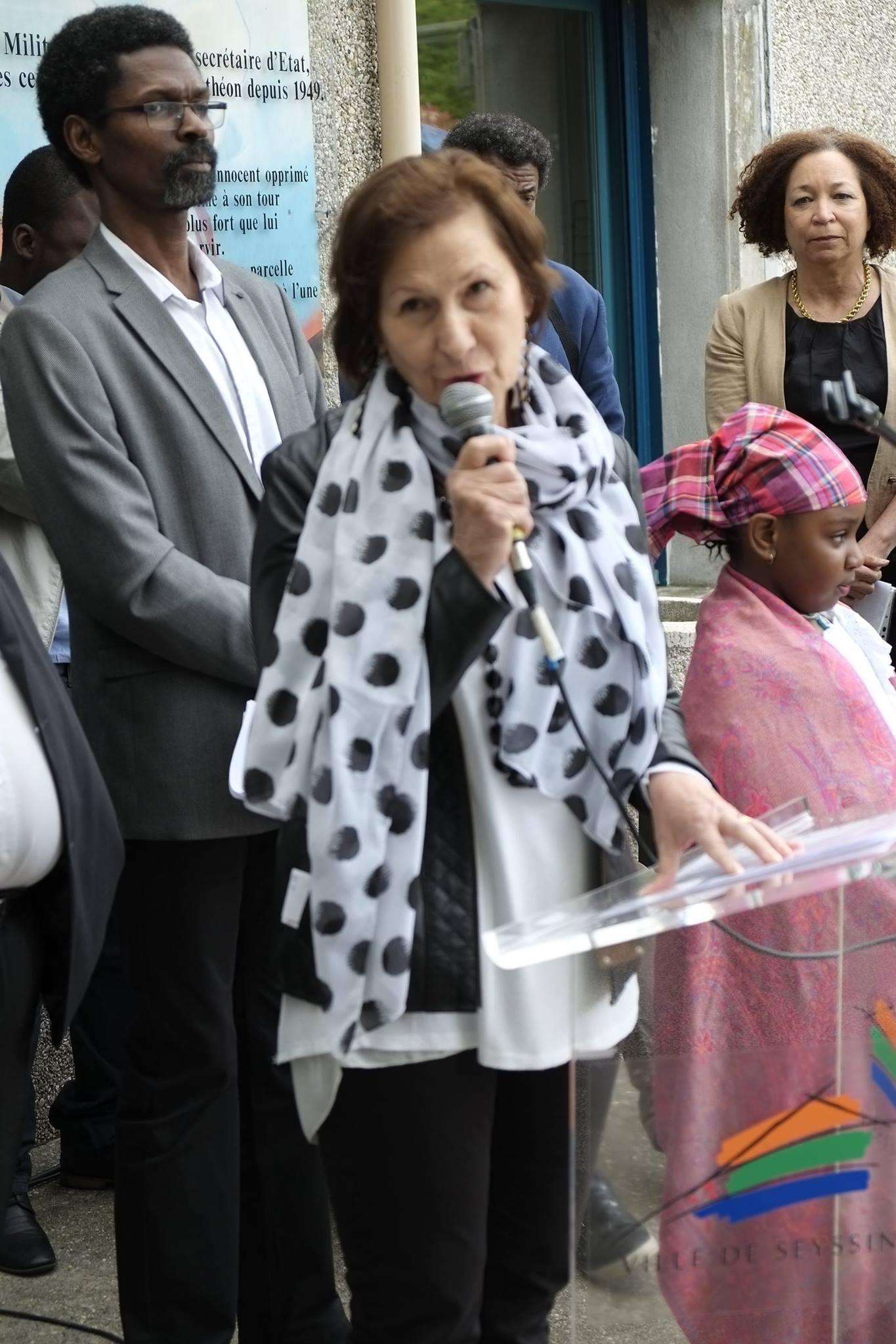 Commémoration de l' Abolition de l'Esclavage 2016 Seyssins Josiane de Régis Présidente AlterEgaux.Isère