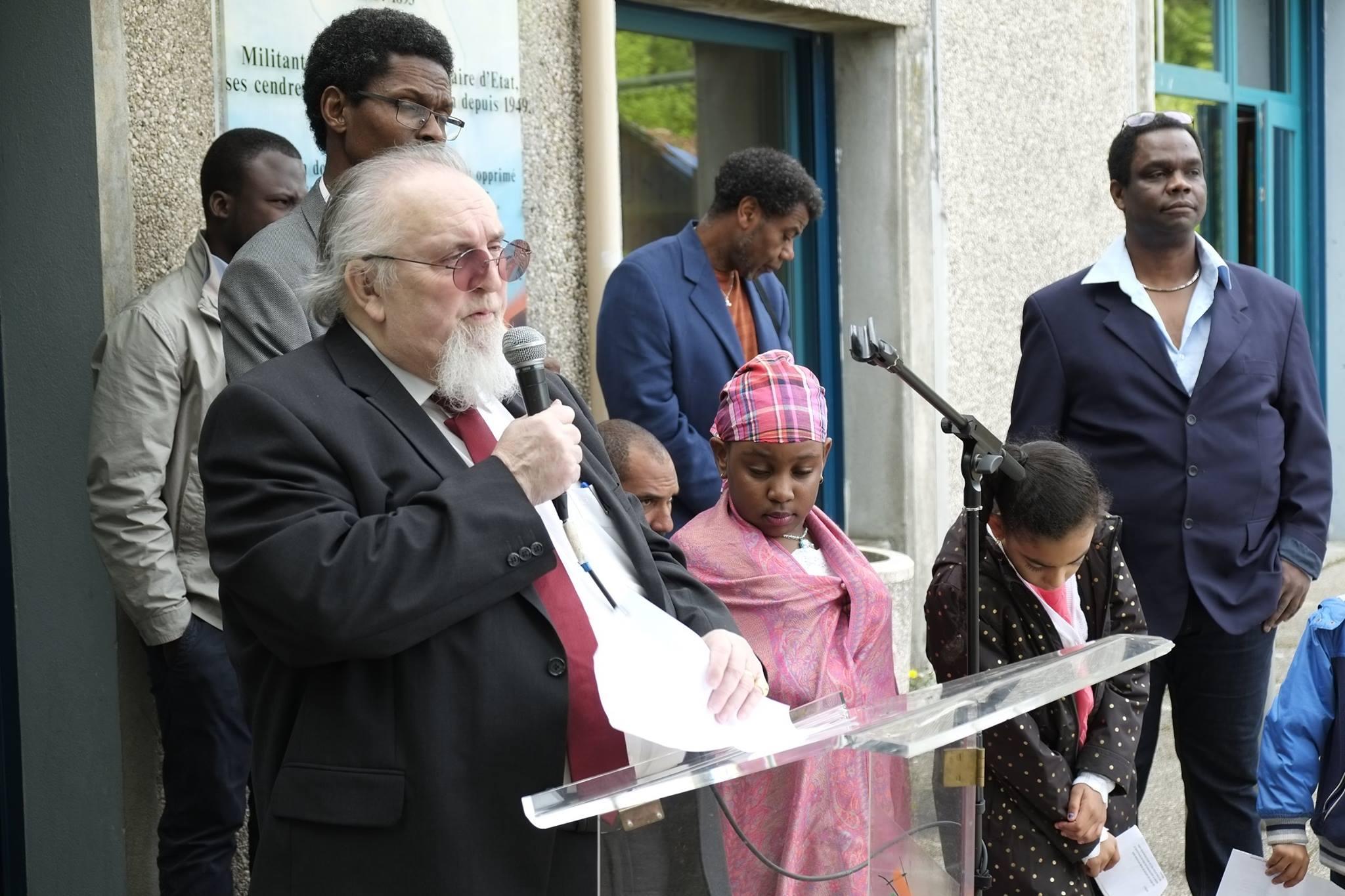 Commémoration de l' Abolition de l'Esclavage 2016 Seyssins Michel BAFFERT représentant du Maire de Seyssins chargé des Droits de l'Homme