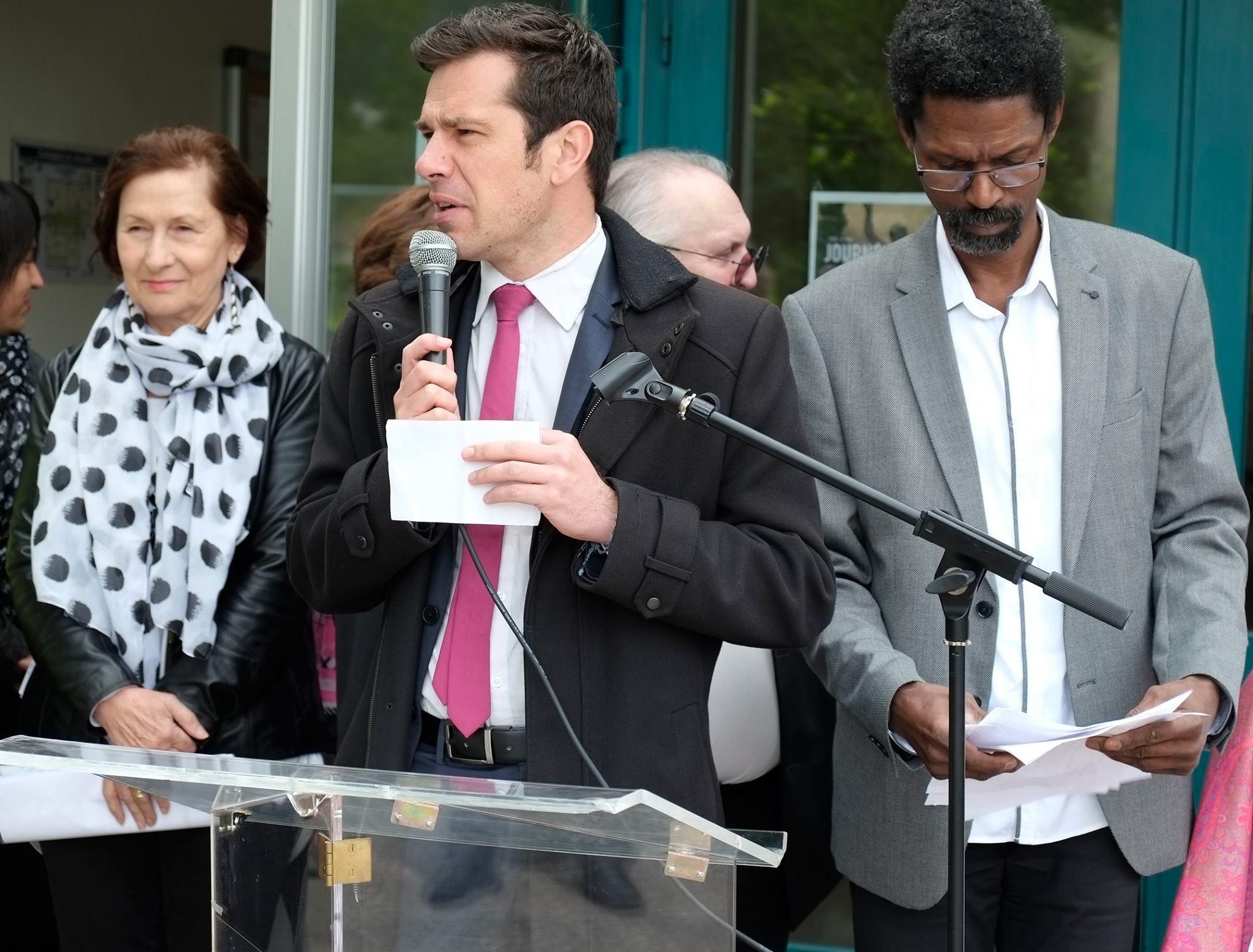 Commémoration de l' Abolition de l'Esclavage 2016 Seyssins Monsieur le conseiller Départemental